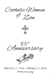 Catholic Women of Zion 25th Anniversary, February 11, 1989 - February 11, 2-14